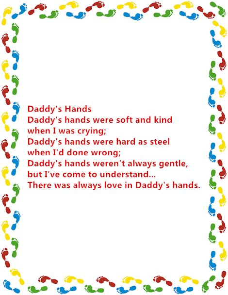 Meaningful Happy Father's Day Poems From Baby Footprints