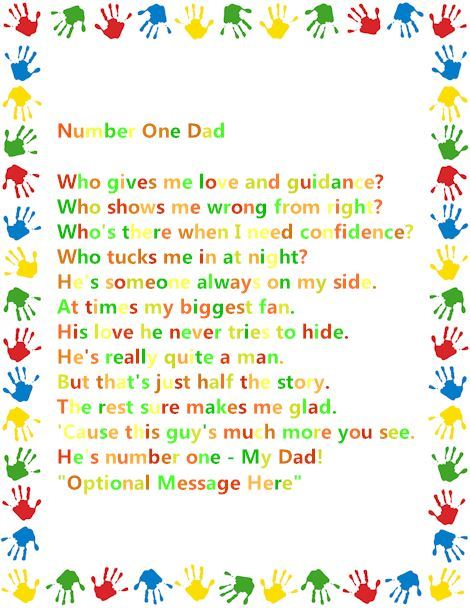 Meaningful Happy Father's Day Poems From Baby Handprints