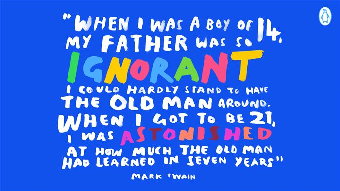 Famous Funny Happy Father's Day Quotes Of Mark Twain