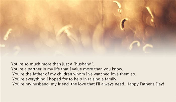 Meaningful Happy Father's Day Messages From Wife To Husbands