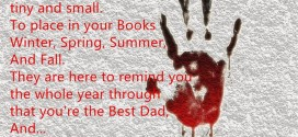 Famous Happy Father's Day Poems Children With Handprints