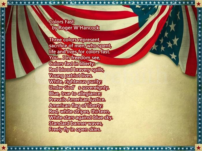 Free Happy Flag Day Poems For Children