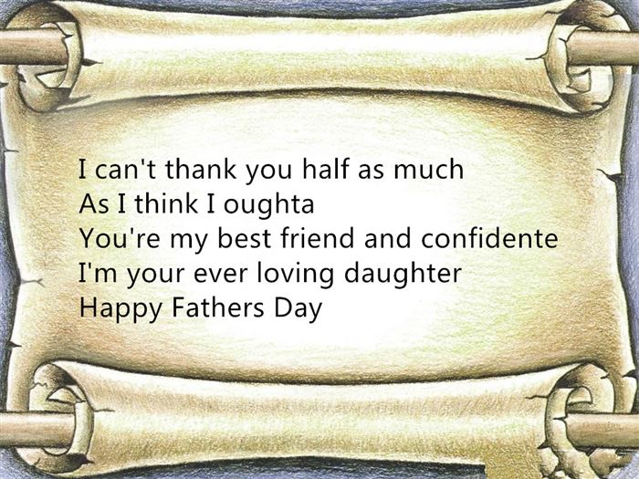 Famous Short Happy Father's Day Poems From Teenage Daughter