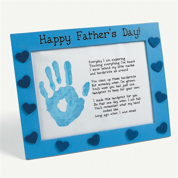 Short Happy Father's Day Poems From Kids With Handprints