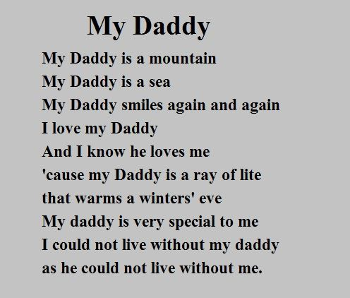Short Meaning Happy Father's Day Poems From Daughter