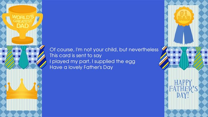 Short Happy Father's Day Poems From Wife