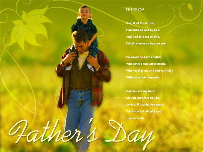 Meaningful Christian Poems For Father's Day From Kids