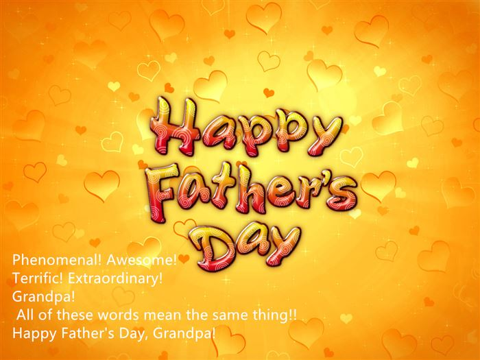 Meaningful Happy Father's Day Card Sayings For Grandfather
