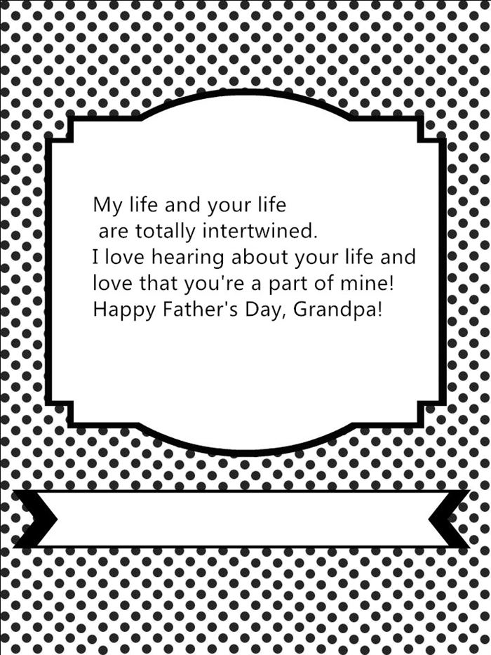 Famous Happy Father's Day Card Sayings For Grandfather