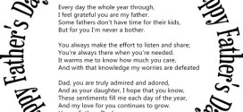Top Happy Father's Day Poem From Baby Daughter