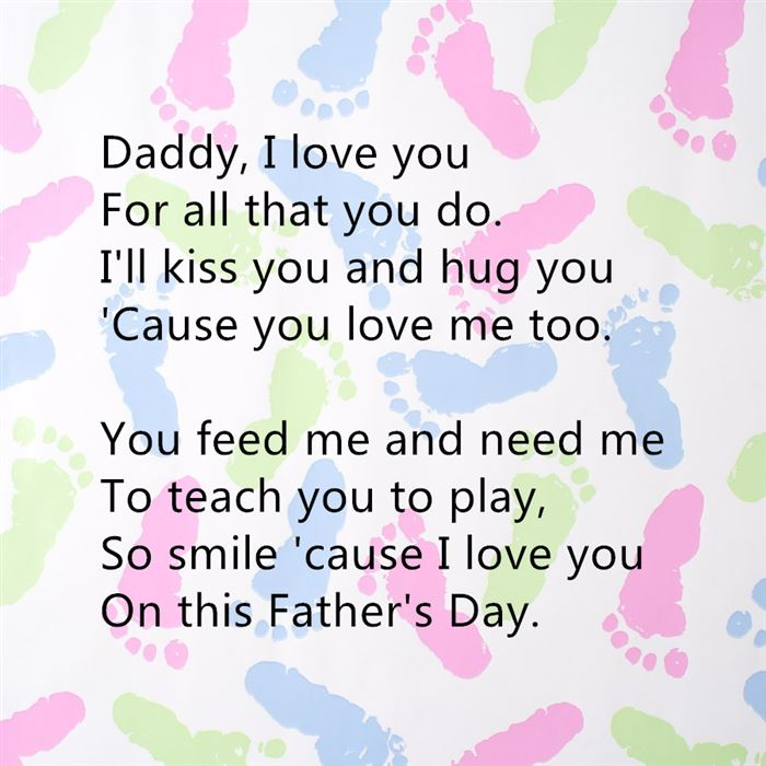 Top Happy Father's Day Poems For Preschool Footprints