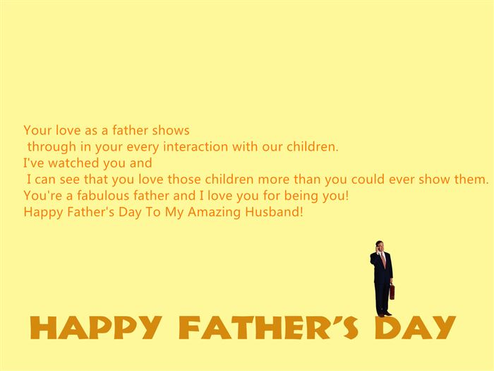 Top Happy Father's Day Quotes From Wife To Husband