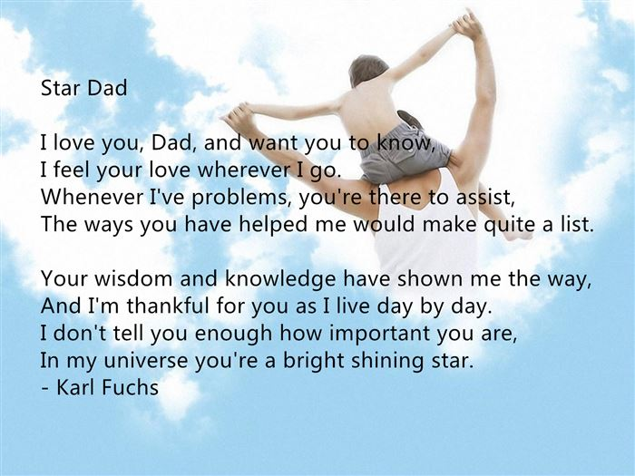 Free Printable Happy Father's Day Poems For Preschoolers