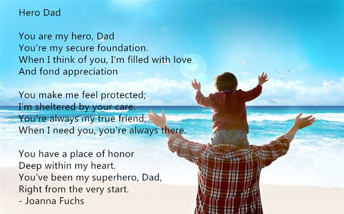 Meaningful Printable Happy Father's Day Poems For Preschoolers