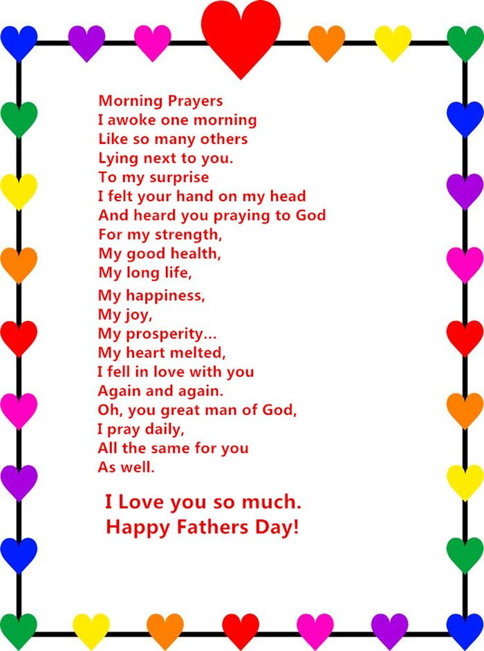 Best Christian Happy Father's Day Poems From Wife