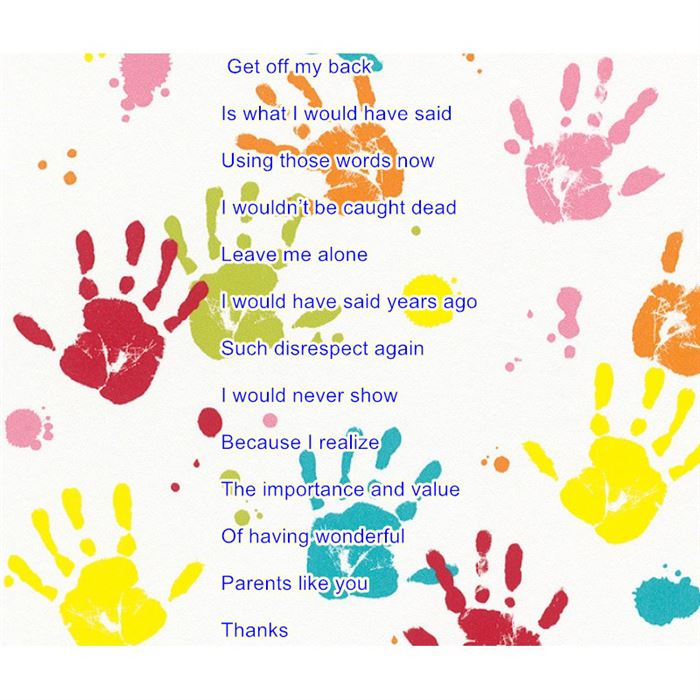 Best Happy Parents Day Poems For Kids Handprints