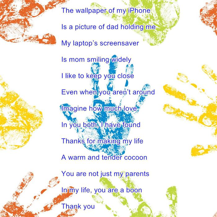 Meaningful Happy Parents Day Poems For Kids Handprints
