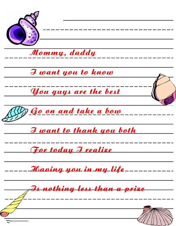 Best Short Happy Parents Day Poems From Daughter