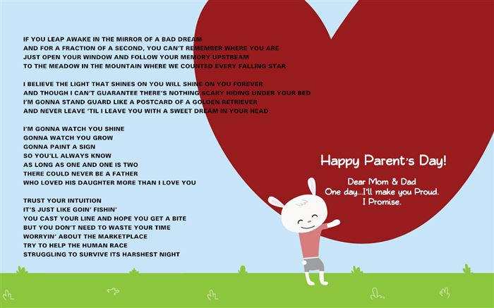 Inspirational Happy Parents Day Songs From Children