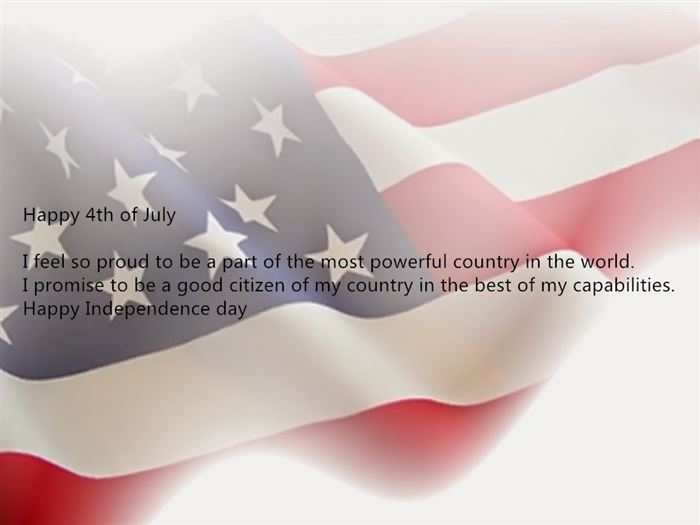 Meaningful Happy USA Independence Day Greetings SMS