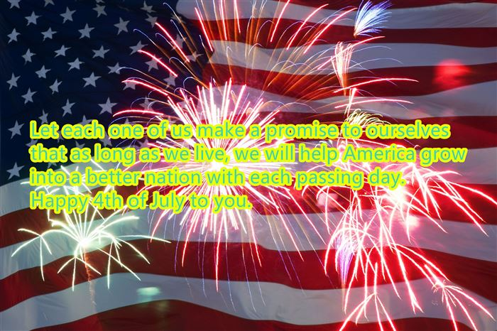 Unique Happy USA Independence Day Greetings SMS