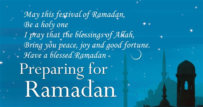 Easy Ramadan Greeting Messages In English