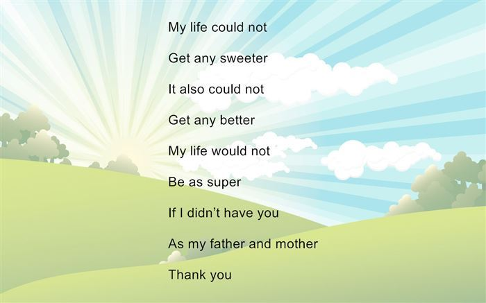 Inspirational Short Happy Parents Day Poems For Kids