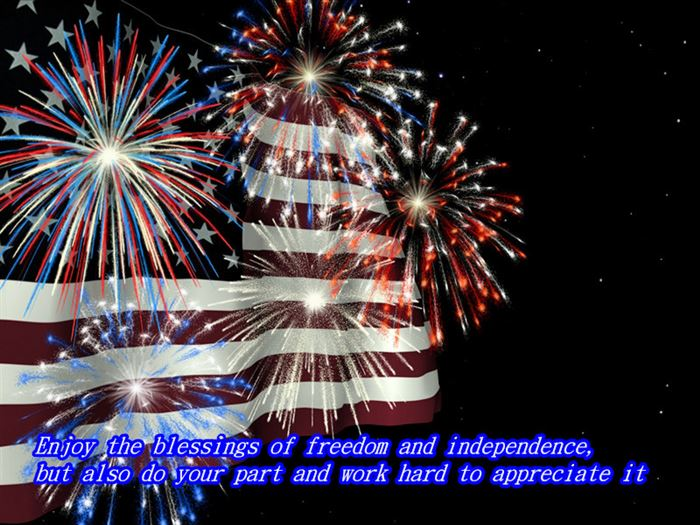 Inspirational USA Independence Day Wishes Messages