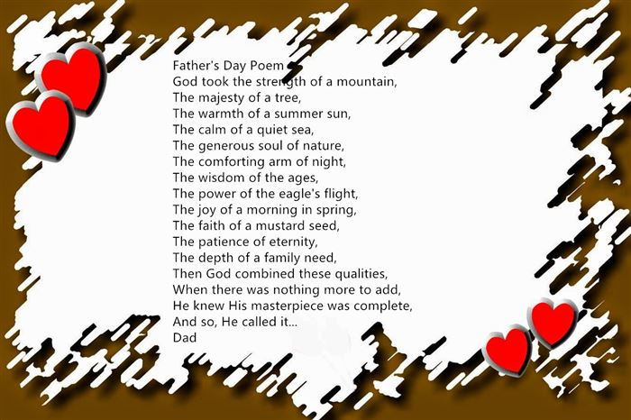 Best Short Christian Happy Father's Day Poems From Preschoolers