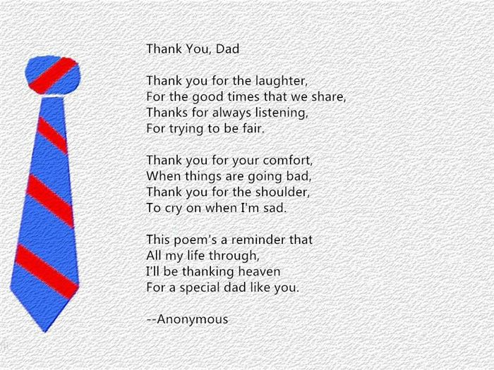 Short Christian Poems For Happy Fathers Day