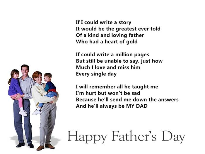 Short Happy Father's Day Poems For Deceased Dads