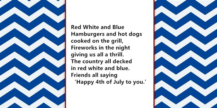 Short USA Independence Day Poems For Children
