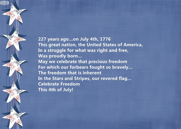 Meaningful USA Independence Day Poems For Children
