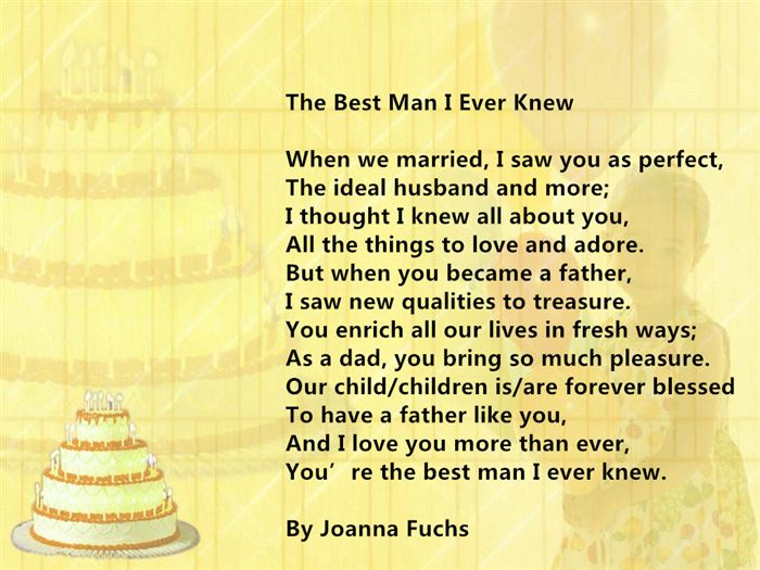 Meaning Short Happy Fathers Day Poems From Wife To Husbands