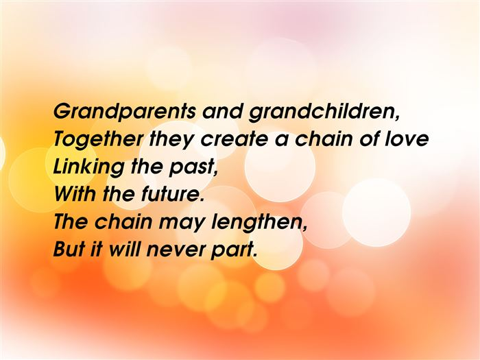 Free Poems For Grandparents Day From Grandchildren