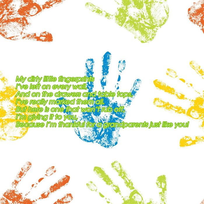 Short Free Handprints Grandparents Day Poems For Kids