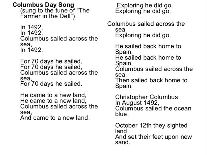 Famous Columbus Day Activities For First Grade