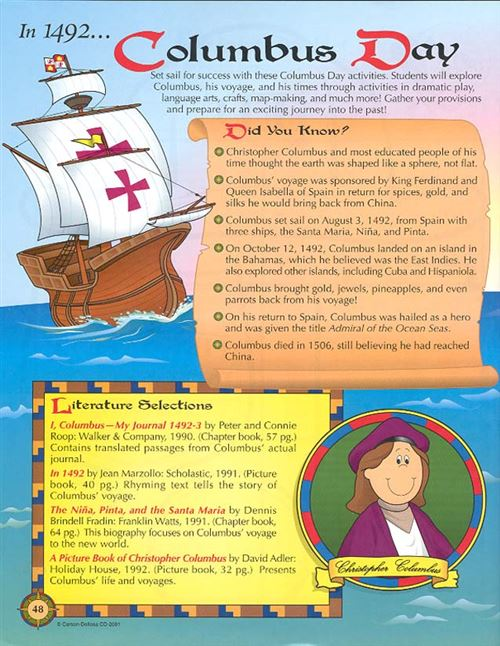 Unique Columbus Day High School Lesson Plans