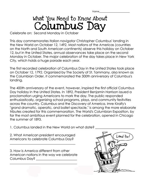 Meaningful Columbus Day History Lesson