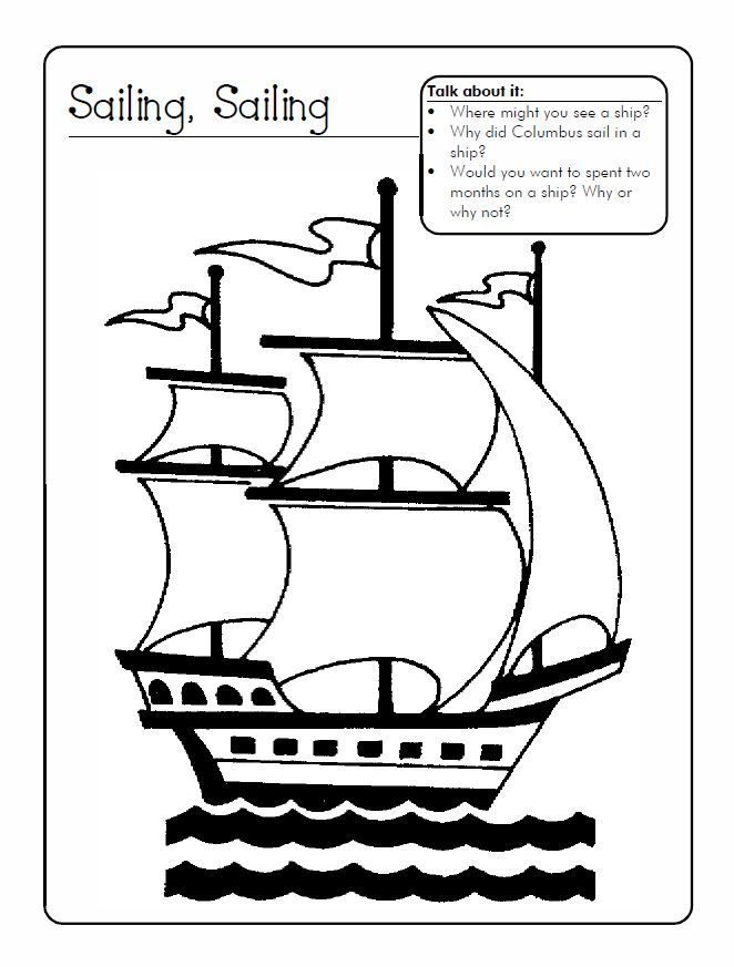 Unique Columbus Day Worksheets For Kindergarten