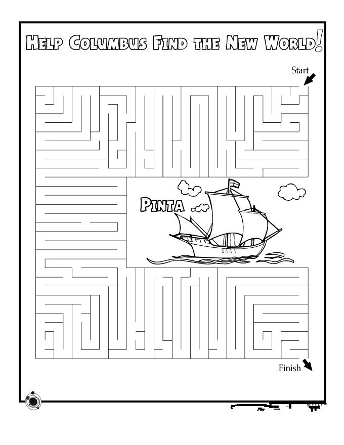 Beautiful Columbus Day Worksheets For Second Grade