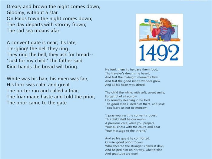 Meaningful Columbus Day Poems For Kindergarten