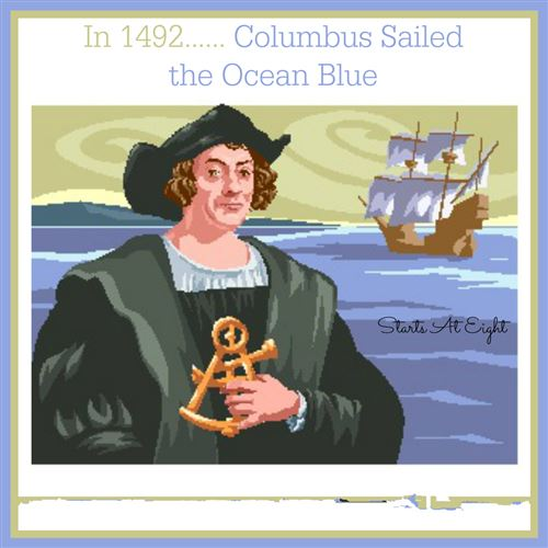 Unique Columbus Day Poem Sailed The Ocean Blue