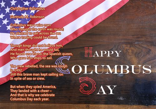 Meaningful Columbus Day Poems For Children
