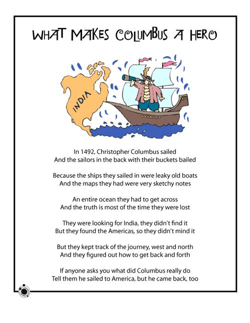 Unique Columbus Day Poems For Elementary