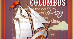 Famous Columbus Day Poems For Preschool