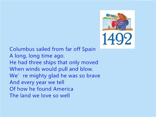 Short Columbus Day Poems For Preschool Free