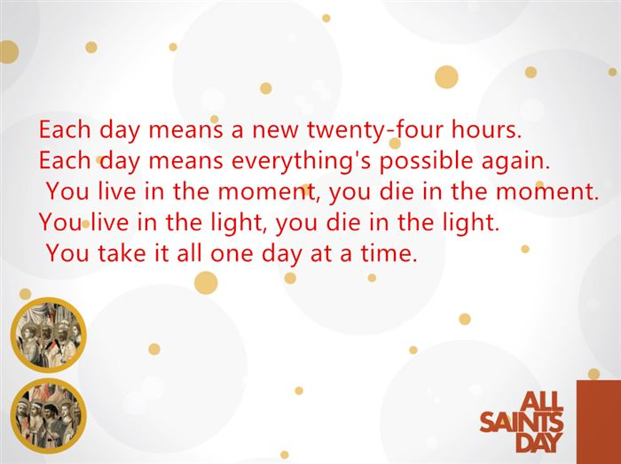 Famous All Saints Day Quotes And Sayings