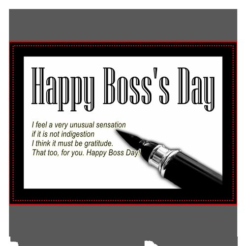 Beautiful Free Printable Boss's Day Greetings Cards