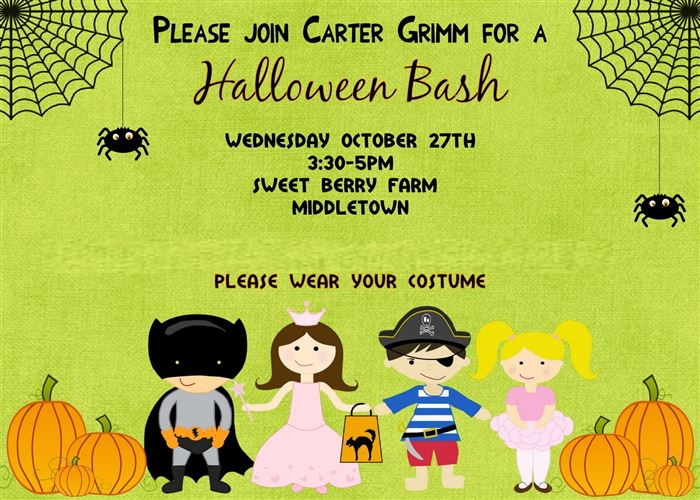 Best Halloween Party Invitations For Kids